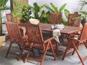 Gartenmöbel Set Akazienholz 6-Sitzer TOSCANA neu