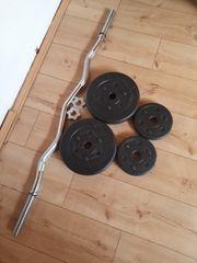SZ Hantelstange mit Gewichten