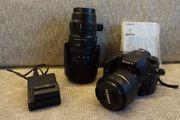 DSLR-Kamera Sony Alpha 77ii mit