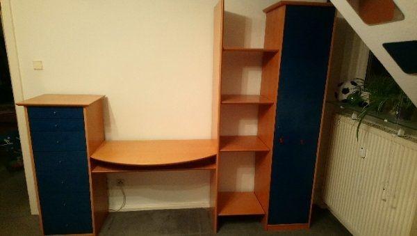Schrankwand * Kinder/Jugendzimmer mit Schreibtisch * in Heidelberg ...