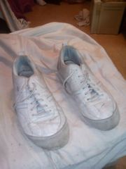 his sneakers