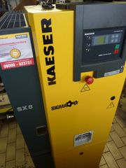 Neuwertiger Kaeser Schraubenkompressor auf Behälter