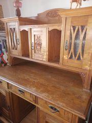 Antik Schreibtisch Massievholz