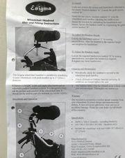 Rollstuhl Kopfstütze