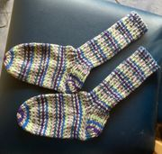 Handgestrickte Socken Strümpfe selbstgestrickt Wollsocken