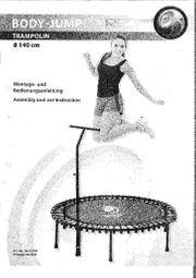 Trampolin RBS mit Trainings-DVD neuwertig