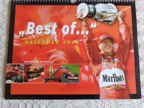 Kalender Michael Schumacher Ferrari Formel