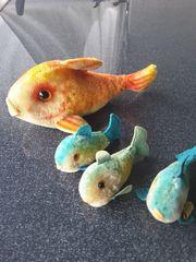 Steiff Tiere Fische 4 Stück
