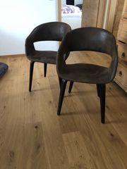 Stühle schwarz braun 2 Stück
