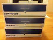 Horvi-Enzym-Ampullen Mokassin forte und Horvitrigon
