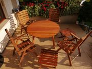 Mesch Gartenmöbel Tisch Stühle Hocker