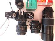 Komplette Fotoausrüstung ink versch Objektive