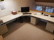 DYES Büroschreibtisch Eckkombination