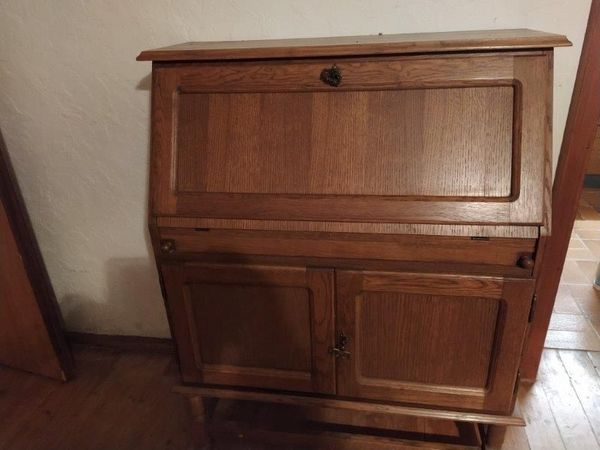Hübscher Vintage Sekretär Eichenholz antik