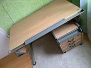 Moll Schreibtisch mit Roll-Container und