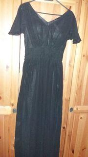 Langes Abendkleid schwarz Größe 34