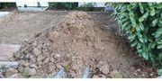 Frische Muttererde Mutterboden Erdaushub zu