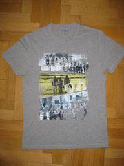 T-Shirt grau mit Aufdruck Größe