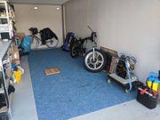 Trockener Winter Stellplatz Motorrad Roller