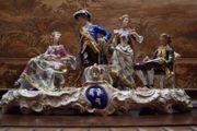 SITZENDORF-GERMANY gr Prunk-Figuren-Gruppe königliche Gesellschaft
