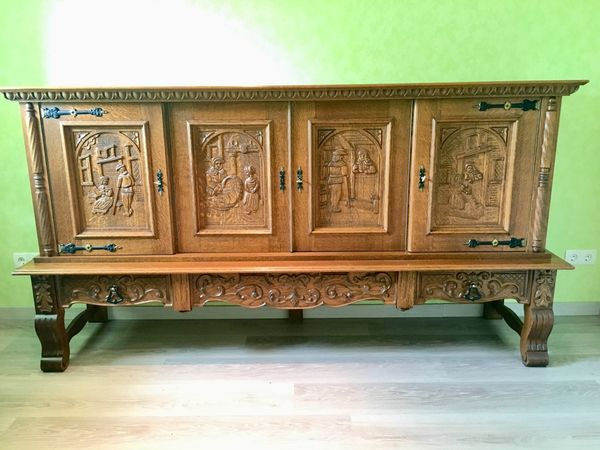 Sideboard Eiche Rustikal Ca 40 Jahre Alt Top Zustand In Pohl
