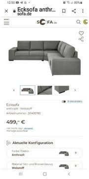 Sofa grau Led neuwertig