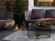 Outdoor Teppich hellgrau 120 x