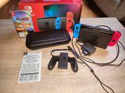 Neuwertige Nintendo Switch inkl 1
