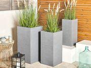 Blumentopf grau quadratisch 40 x