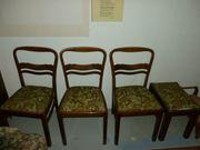 3 Antike Esszimmerstühle und 1