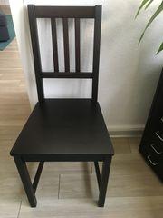 4 schwarze Stühle Holz von