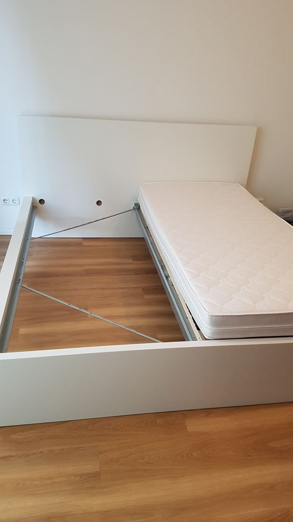 Doppelbett Malm weiß 180 mal