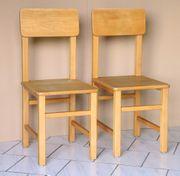 2 x Schreiner Stühle unbehandelt