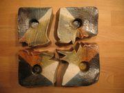 Kerzenständer Ton Keramik 4 Puzzleteile