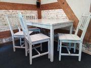 Essgruppe Esstisch 4 Stühle Auflagen
