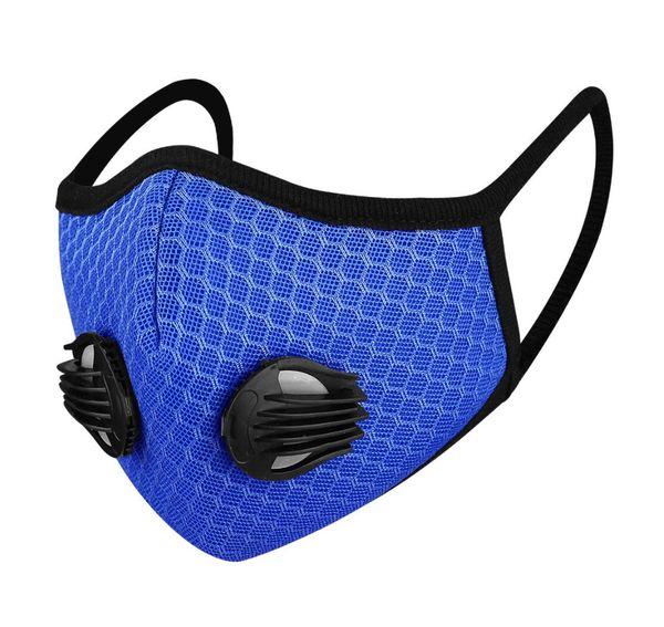 Mund Nasen Maske - Ventil - blau