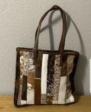 Kuhfelltasche Shopper Tasche Handtasche HANDARBEIT