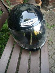 Motorrad Helm in schwarz