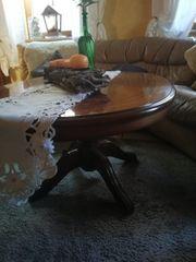antiker Tisch ovale Form