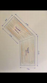 Toller Eck Schreibtisch aus Massivholz