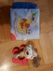Süße Schnullerkette Bär und Buch