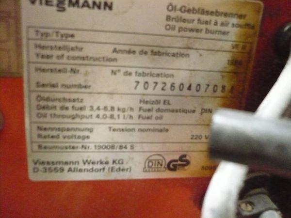 Viessmann Brenner Ventilator und Filter