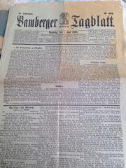 Bamberg alte Zeitungen Dokumente