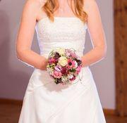 Hochzeitskleid inkl Reifrock und Stola