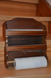 Küchenabroller 3 fach Holz gebraucht