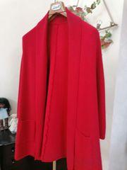 1chicke rote Strickjacke neuwertig und