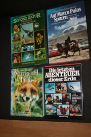 Bücher versch Tier -Fachbücher Landkarte