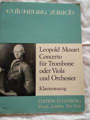 Klaviernoten Pianobuch Orgelheft Leopold Mozart