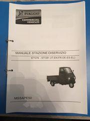 Piaggio APE 50 Werkstatt Handbuch