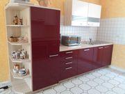 Hochwertige Einbauküche mit Elektrogeräten kaum